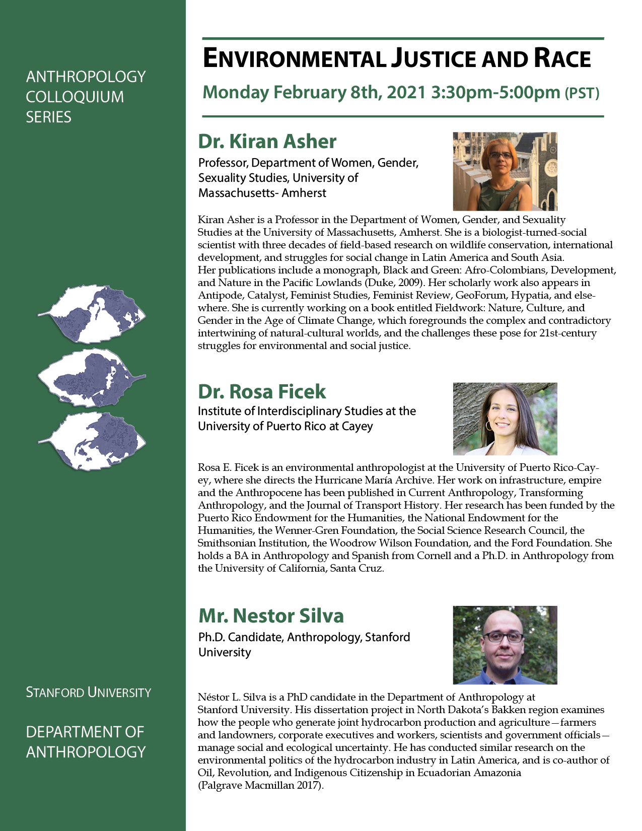 flyer image of speakers and bios