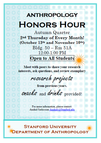 anthropology honors hour flyer