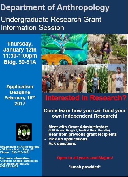 UG research grant info session flyer