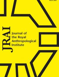 Journal of the Royal Anthropological Society V26.1 book cover