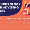 Flyer for Spring Quarter 2021 Anthropology Peer Advising Hours